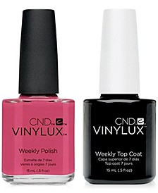 Creative Nail Design Vinylux Irreverent Rose Nail Polish & Top Coat (Two Items), 0.5-oz., from PUREBEAUTY Salon & Spa
