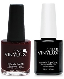 Creative Nail Design Vinylux Oxblood Nail Polish & Top Coat (Two Items), 0.5-oz., from PUREBEAUTY Salon & Spa