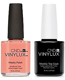 Creative Nail Design Vinylux Salmon Run Nail Polish & Top Coat (Two Items), 0.5-oz., from PUREBEAUTY Salon & Spa
