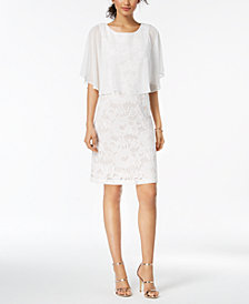 Connected Lace Capelet Dress