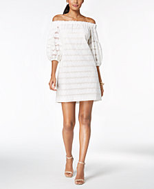 Vince Camuto Off-The-Shoulder Balloon-Sleeve Dress