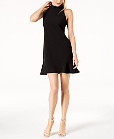 Vince Camuto Mock-Neck Flounce Sheath Dress