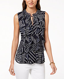Tommy Hilfiger Ruffled Top, Created for Macy's
