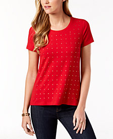 Tommy Hilfiger Studded T-Shirt, Created for Macy's