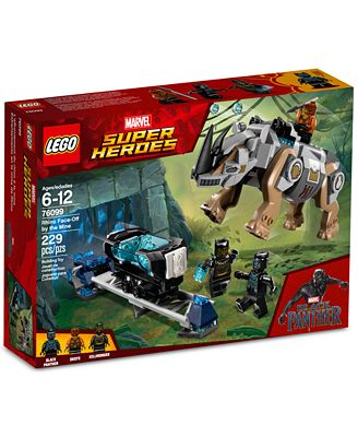 LEGO® Super Heroes Black Panther Rhino Face-Off by the Mine Set ...