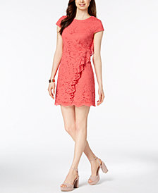 Vince Camuto Ruffled Lace Shift Dress