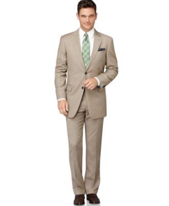 A well-fitting suit is essential for any businessman or woman's wardrobe – but suiting is also perfect for structured skirts and jackets for more casual settings.