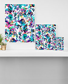Deny Designs Ninola Design Aquatic Flowers Canvas Collection