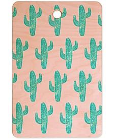 Bianca Green Linocut Cactus Cutting Board