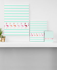 Deny Designs Monika Strigel Mini Flamingo Walk Canvas Collection