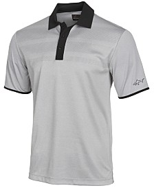 Attack Life by Greg Norman Men's Engineered-Stripe Performance Polo, Created for Macy's