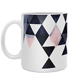 Deny Designs Emanuela Carratoni Blue Geometry Coffee Mug