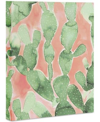 "Jacqueline Maldonado Paddle Cactus Art Canvas 8x10"""