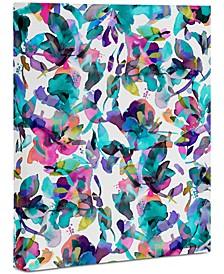 "Ninola Design Aquatic Flowers Art Canvas 16x20"""