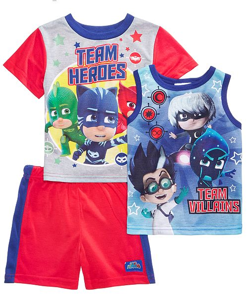 5694f0a9 PJ Masks Disney Juniors® 3-Pc. Pajama Set, Toddler Boys & Reviews ...