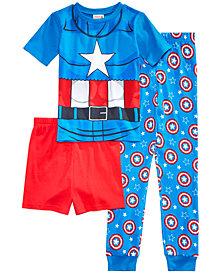 Marvel's® Captain America 3-Pc. Cotton Pajama Set, Little Boys & Big Boys