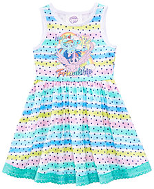 My Little Pony Rainbow-Stripe Star-Print Dress, Little Girls