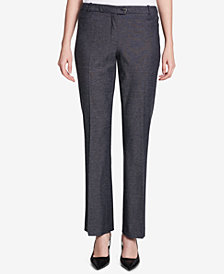Calvin Klein Patterned Straight-Leg Pants, Regular & Petite