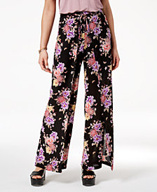 Hippie Rose Juniors' Printed Wrap Pants