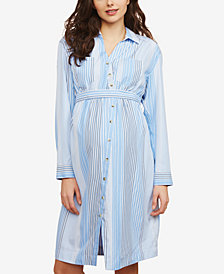 Motherhood Maternity Striped Shirtdress