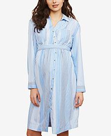 Motherhood Maternity Striped Shirtdress