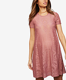 Bcbgmaxazria Maternity Lace Crew-Neck Dress