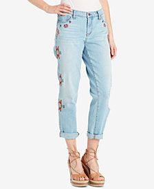 Jessica Simpson Juniors' Mika Best Friend Embroidered Jeans