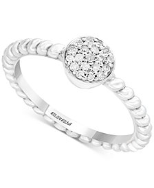 EFFY Kidz® Children's Diamond Accent Round Cluster Ring in Sterling Silver
