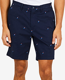 "Nautica Men's Racer Logo Embroidered Classic Fit Stretch 8.5"" Shorts, Created for Macy's"