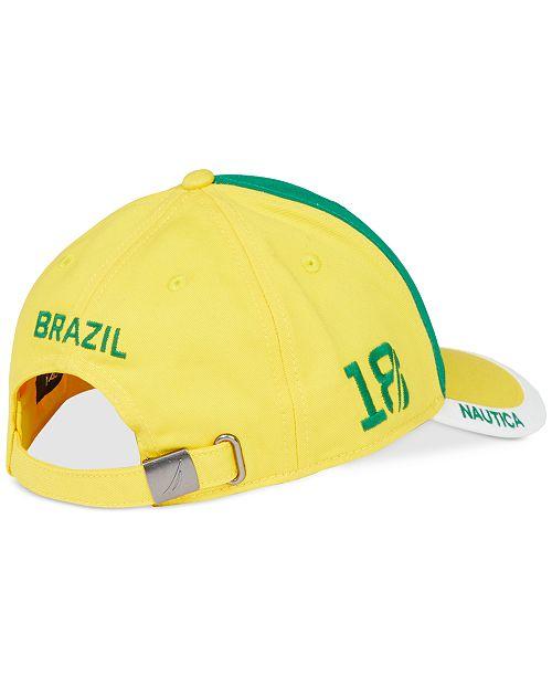 053a6b61459 Nautica Men s Brazil Embroidered Baseball Cap