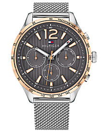 Tommy Hilfiger Men's  Stainless Steel Mesh Bracelet Watch 44mm, Created for Macy's