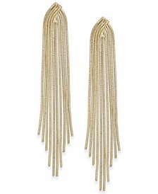Gold-Tone Snake Chain Fringe Drop Earrings, Created for Macy's