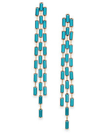 Thalia Sodi Gold-Tone Stone Triple-Row Linear Drop Earrings, Created for Macy's