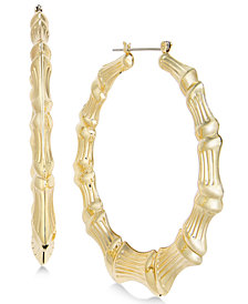 "Thalia Sodi Gold-Tone Bamboo Extra Large 2.5"" Hoop Earrings, Created for Macy's"