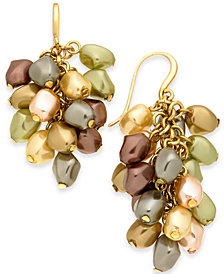 Charter Club Gold-Tone Shaky Imitation Pearl Drop Earrings, Created for Macy's