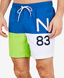 Nautica Men's N83 Quick-Dry Colorblocked Swim Trunks