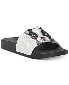 INC Women's Peymin Pool Slides, Created for Macy's