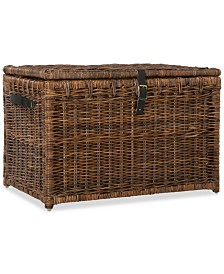 Happimess Michael 35'' Wicker Storage Trunk, Quick Ship