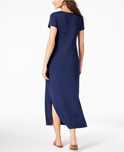 f63b8653fe9 Style   Co Petite Scoop-Neck Maxi Dress