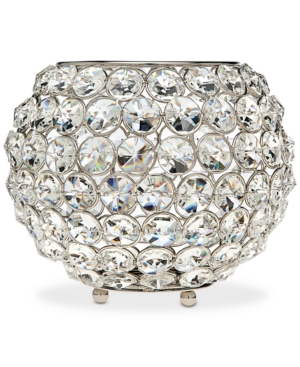 Godinger Lighting by Design Glam 8 NickelPlated Ball Crystal Tealight Holder