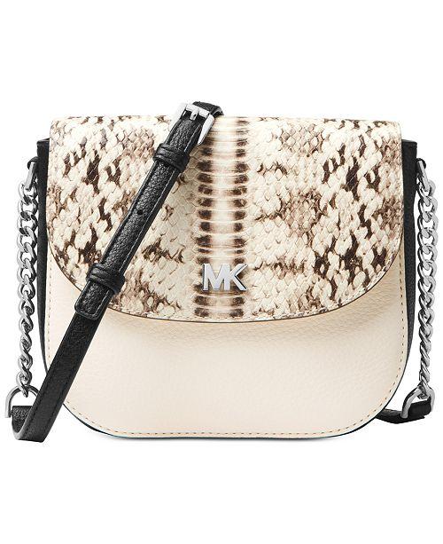 60ef11dd068a Michael Kors Python Half Dome Crossbody   Reviews - Handbags ...
