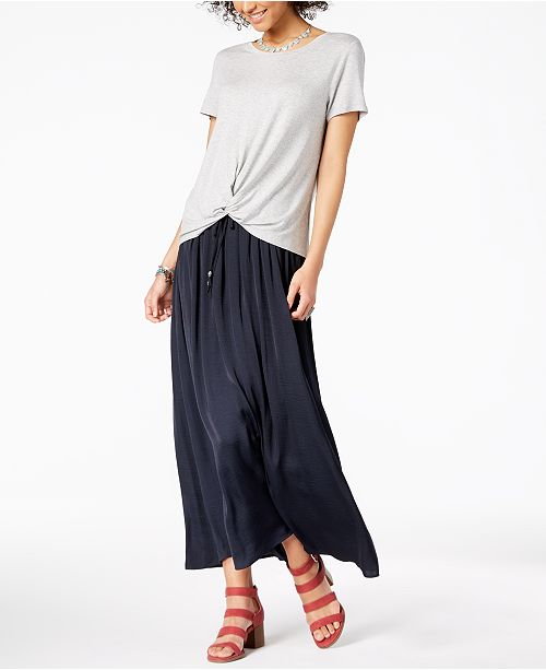213a3d319 Style & Co High-Low T-Shirt & Tie-Front Maxi Skirt, Created for Macy's ...
