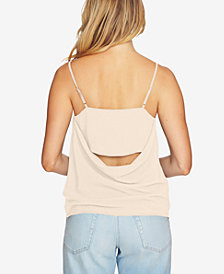 1.STATE Draped-Back Tank Top