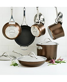 Anolon Nouvelle 11-Pc. Copper Luxe Sable Hard-Anodized Non-Stick Cookware Set
