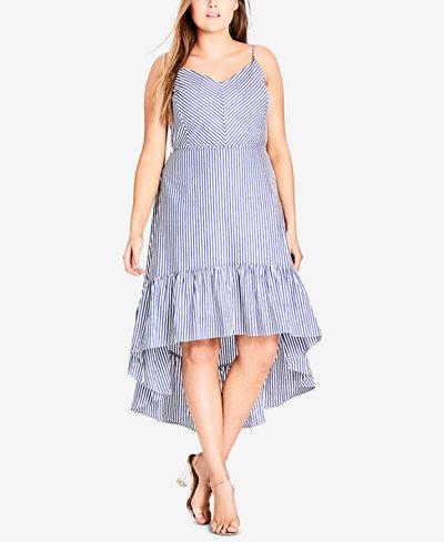 City Chic Trendy Plus Size High-Low Dress