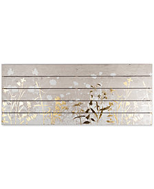 Graham & Brown Metallic Meadow Print on Wood