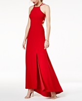 67a1700980b Morgan   Company Juniors  Strappy Sleeveless Gown