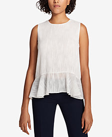 Tommy Hilfiger Ruffled-Hem Top