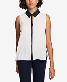 Tommy Hilfiger Colorblocked Collared Shell