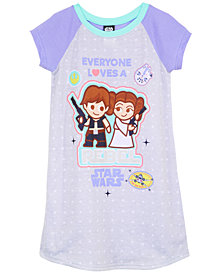 Star Wars Graphic-Print Nightgown, Little & Big Girls